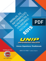 Manual de Informacoes Academicas e Calendario Escolar 2015