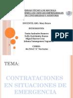 Contrataciones en Situaciones de Emergencia