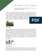 EQUIPOS O MAQUINAS UTILIZADAS EN TALLER DE ESTRUCTURA METALICA.docx
