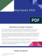Reading Inquiry 2016