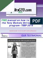 Tony Elumelu Teep Application 2016 Free Guide