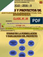 Clase 6 Evaluacion de Un Proyecto Privad 2016 II