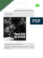 Clinton 2016 Campaign Text Messages