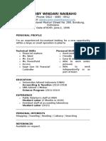 Cv Template Finance Financial Accountant