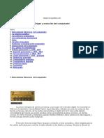 Origen y Evolución Del Computador.doc
