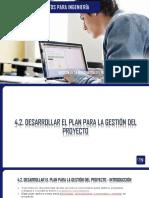 Desarrollo del Plan para la Gestión de Proyectos.