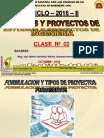 Clase 2 Proyectos 2016 II Gestion Proyecto