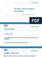 ACARS - Airfcraft Communication Adressing  and Reporting System