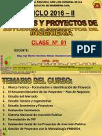 Clase 1 Proyectos 2016 II Conceptos