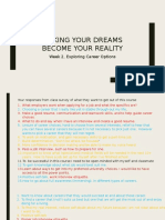 Making Your Dreams Become Your Reality- Chapter 1, Exploring Career Options