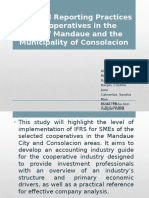 IFRS of SMEs as Practiced in the Cooperative Industry