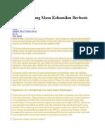 Aplikasi Hitung Masa Kehamilan Berbasis Excel