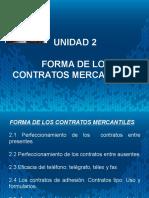 Presentación Forma de Los Contratos Mercantiles