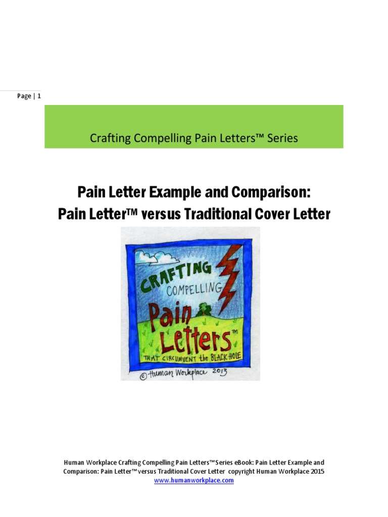 Crafting Compelling Pain Letters Series Pain Letter Example And
