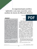 Argumentacao Juridica Manuel Atienza Caso Concreto