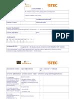 Assignment 3 Frontsheet OOP