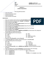 MS Excel Activities I-BA