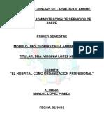 El Hospital Como Organización Profesional