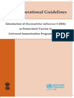 Pentavalent Vaccine Operational Guidelines 2013