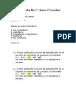 Encuesta Multicines Cinestar (Alida Del Castillo)