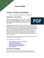 Epilepsy and Pregnancy.emedicine