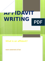 Affidavit Writing Lecture