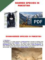 Endangered Species in Pakistan