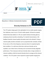 Diversity Schemes in LTE - IET Engineering Communities