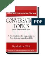 eBook 54 Conversation Topics by Schoolofsocialskills.com