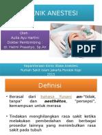 Ppt Teknik Anestesi