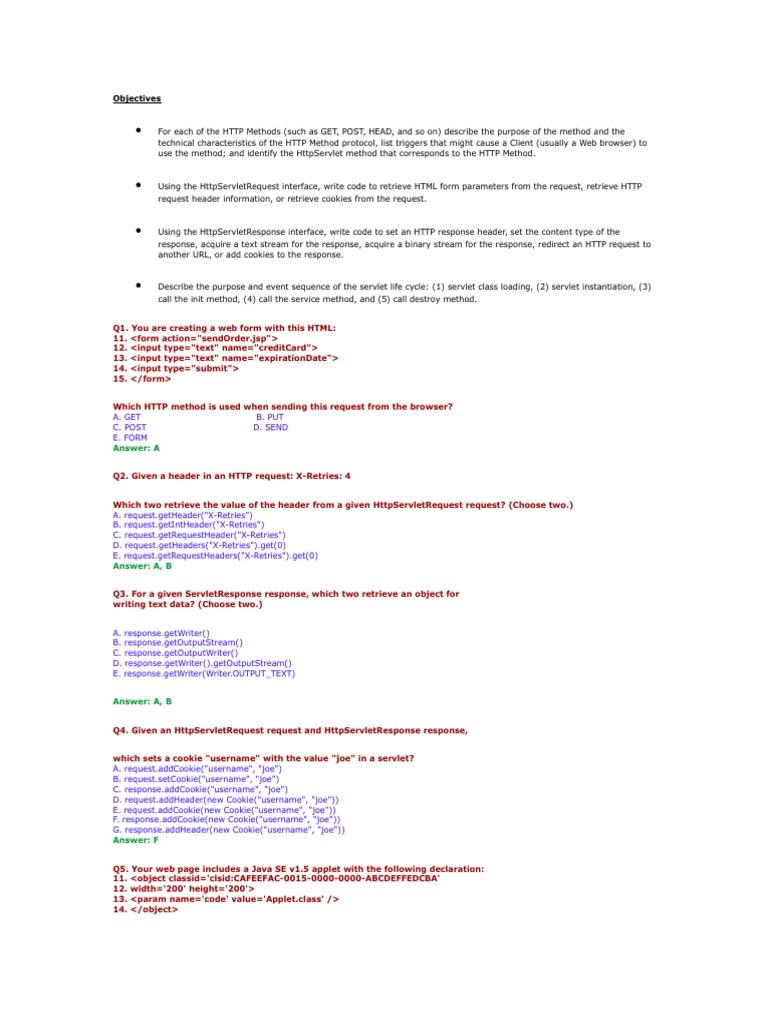 1 The Servlet Technology Model Http Cookie Hypertext Transfer Protocol
