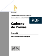Técnico de Enfermagem-Centras Elétricas de Santa Catarina