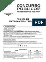 Técnico Em Enfermagem Do Trabalho-Universidade Federal Do Rio de Janeiro