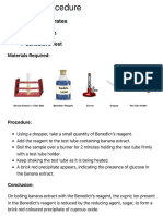 Detection of Carbohydrates, Proteins and Fats (Procedure)