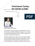 Tableau Performance Tuning