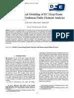 3D Numerical Modeling of RC Deep Beam Behavior