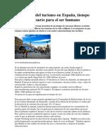 Tendencias Del Turismo en España, Tiempo de Ocio Necesario Para El Ser Humano