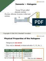 16c Periodic Table Grp VII