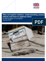 Corruption Evidence Paper Why Corruption Matters
