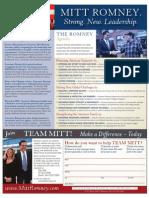 Mitt Romney's Agenda