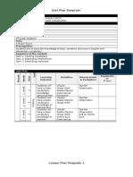 unit plan and lesson plans  1