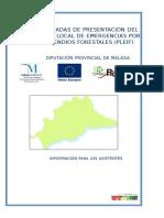 Informacion Para Los Asistentes a Las Jornadas de Presentacion Del Proyecto Protect y Planes Locales de Emergencias Por Incendios Forestales (Pleif)