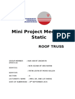 Mini Project Mechanic Static
