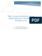 The Causes and Influence of Absenteeism in the British Workplaces by Mahmudur Rahman
