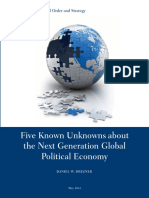 Drezner Five Next Big Unknowns in Political Econonomy