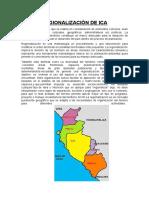 Regionalización de Ica