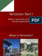 Terrorism Part I