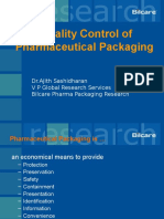Pharma Packaging -Quality