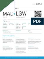 MAD TERMINAL SAL. Madrid H. LLEGADA LGW Londres Gatwick