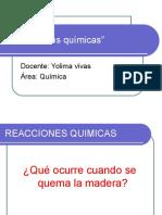 DIAPOSITIVAS REACCIONES QUIMICAS
